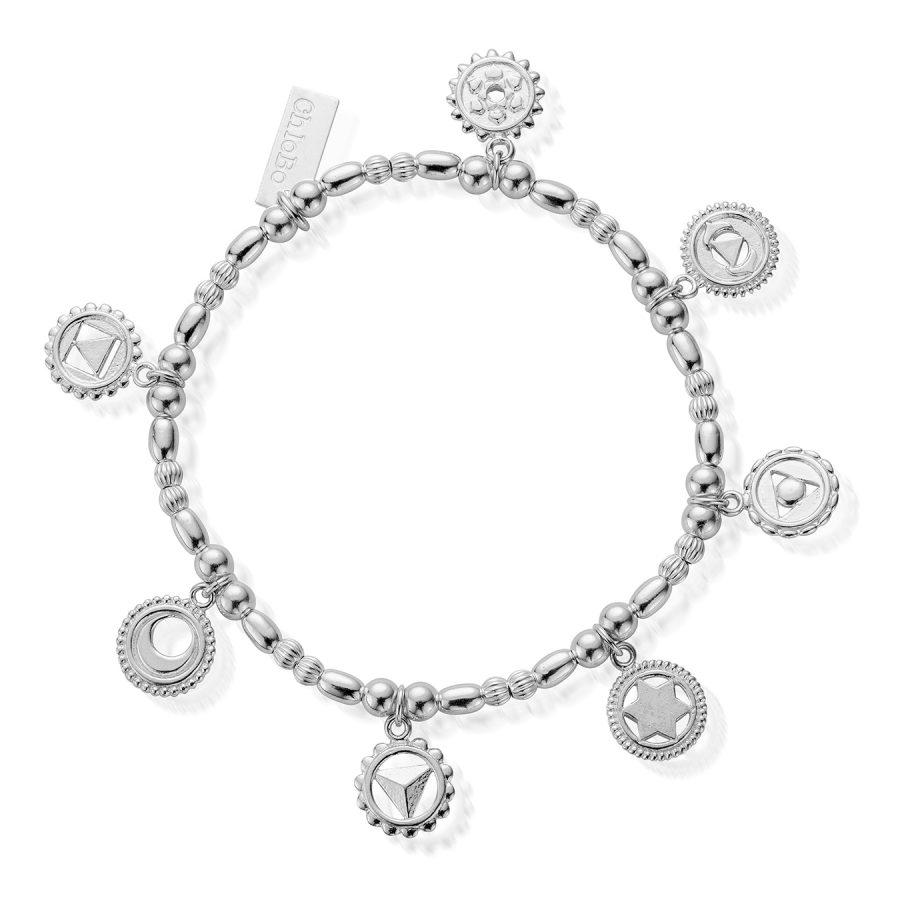 ChloBo Silver Positive Vibes Bracelet
