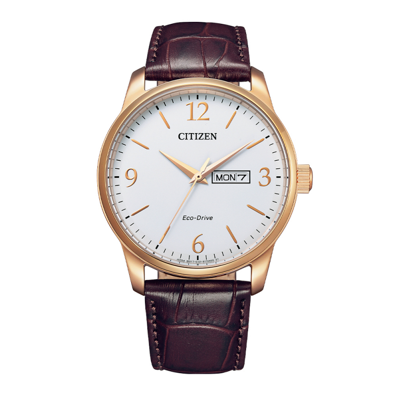 Citizen Gents brown leather Strap Watch