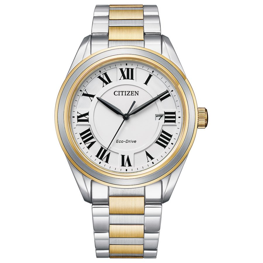 Citizen Gents Bracelet Watch Silver and Gold