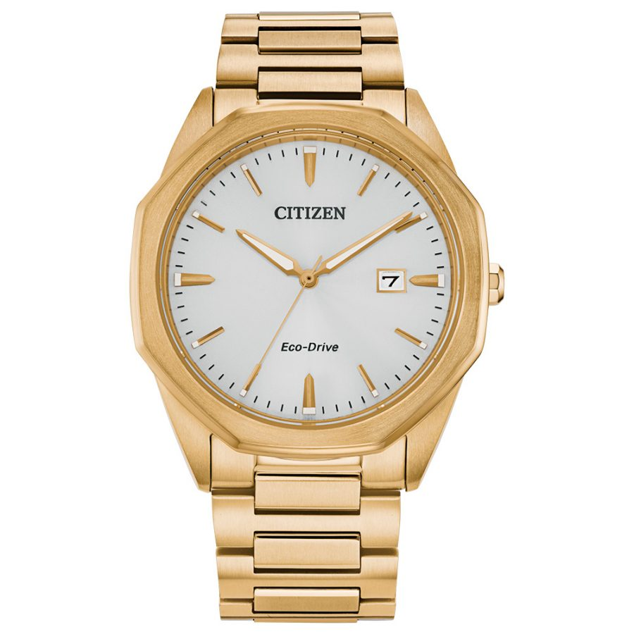 Citizen Gents Bracelet Watch Gold white dial