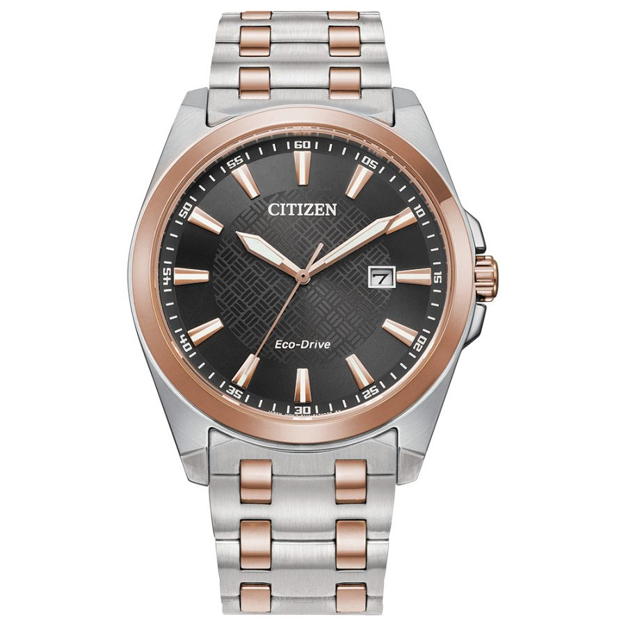 Citizen Gents Bracelet Watch Silver and Rose
