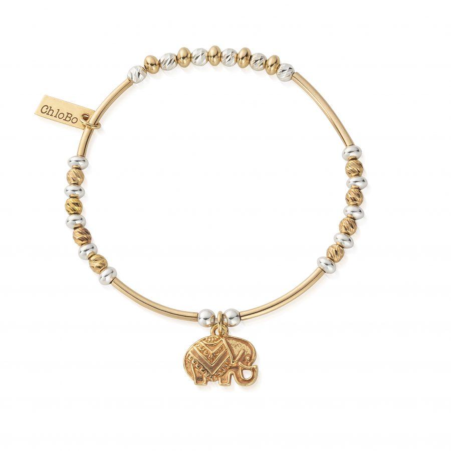 ChloBo Silver and Gold Plated Elephant Bracelet