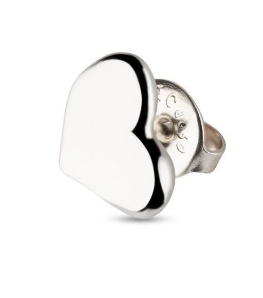 UNOde50 Full Heart Stud Earrings