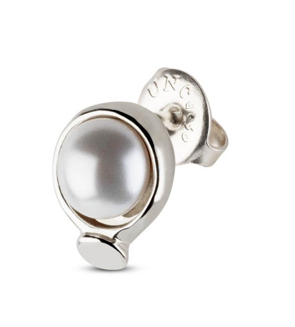 UNOde50 WOW Pearl Stud Earrings Silver Plated