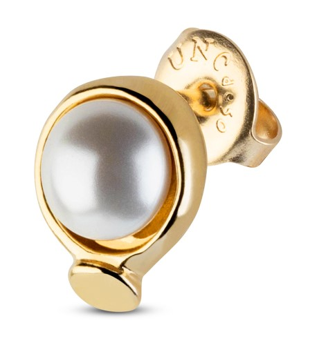 UNOde50 WOW Pearl Stud Earrings Gold Plated