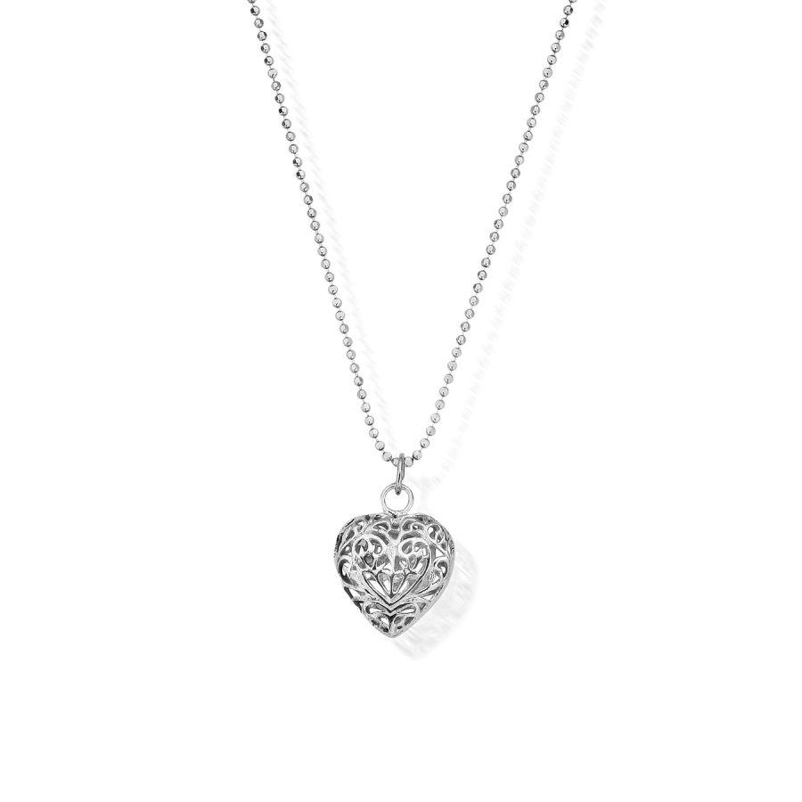 ChloBo Silver Filigree Heart Pendant & Chain