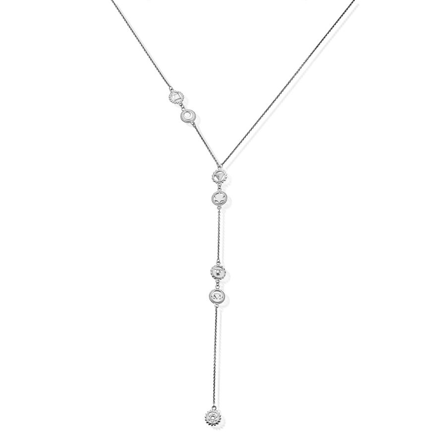 ChloBo Silver Positive Vibes Lariat Necklace