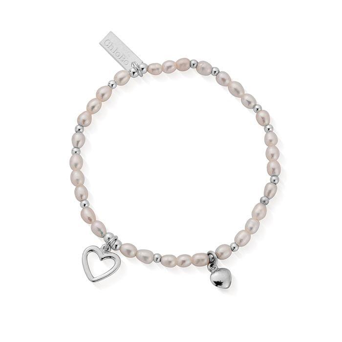 ChloBo Silver and Pearl Forever Love Bracelet