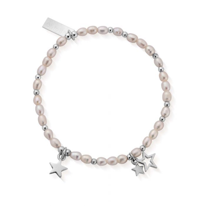 ChloBo Silver and Pearl Lifelong Magic Bracelet