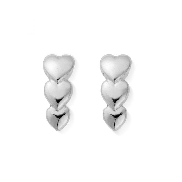 ChloBo Silver Life Lover Stud Drop Earrings